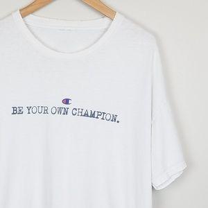 Champion Vintage Thrashed White Tee Men's Size XL